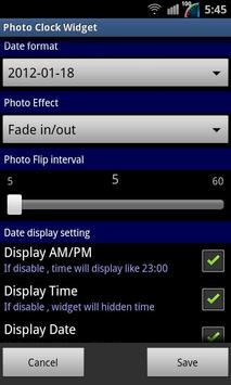 Photo Clock Widget screenshot 4