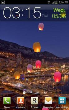 Colorful Flying Paper Lanterns poster