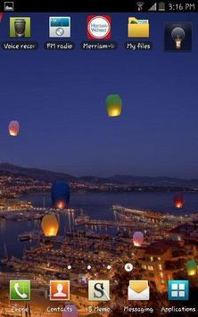 Colorful Flying Paper Lanterns apk screenshot