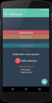 Twist Sms free Dz apk screenshot