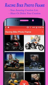 Racing Bike Photo Frame apk screenshot