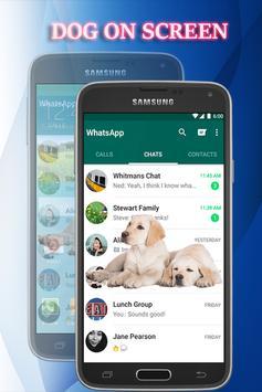 Dog on Screen - Dog in Phone Funny Joke apk screenshot