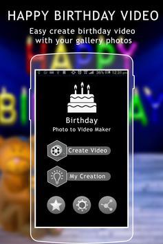Birthday Video Maker poster
