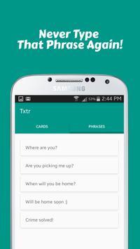 Txtr - Flick and Send apk screenshot
