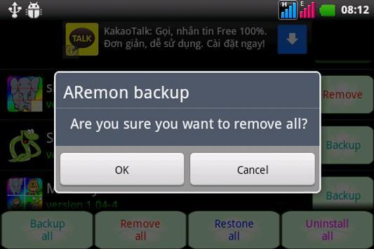 Aremon backup apk screenshot 2