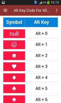 Alt Key Code For All Typing screenshot 3