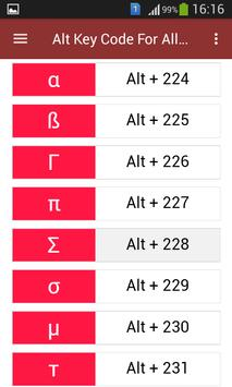 Alt Key Code For All Typing screenshot 4