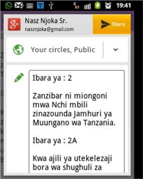 Katiba ya Zanzibar(1984)  2010 apk screenshot