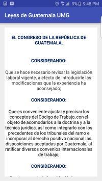Leyes de Guatemala UMG apk screenshot