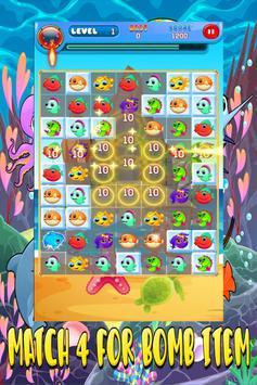 SEA ANIMAL MATCH 3 PUZZLE GAME screenshot 2