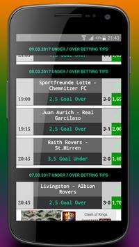Betting Tips Under/Over apk screenshot
