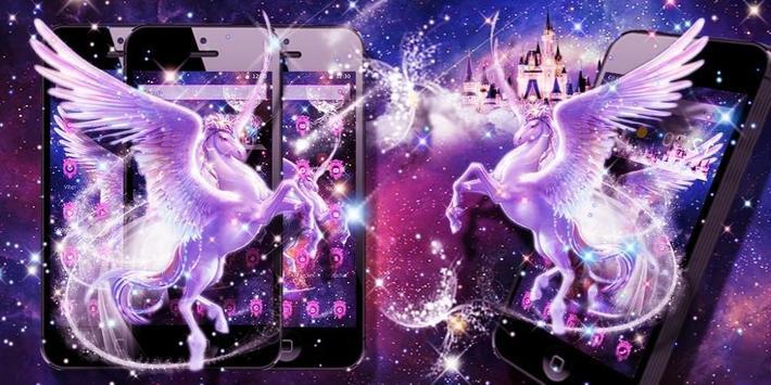 Unicorn Purple Dreamy Theme screenshot 3