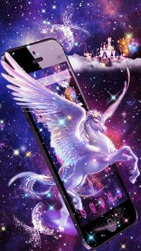 Unicorn Purple Dreamy Theme poster