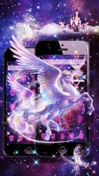 Unicorn Purple Dreamy Theme screenshot 1