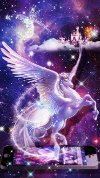 Unicorn Purple Dreamy Theme screenshot 2
