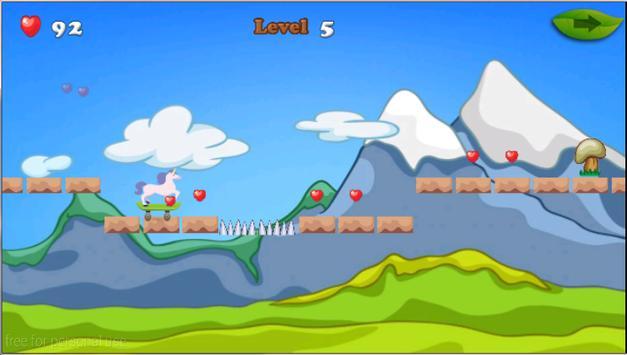 Unicorn Skater Adventure screenshot 13