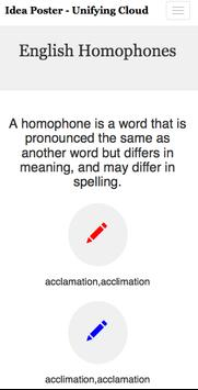 English Homophones -Ideaposter poster