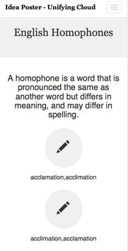 English Homophones -Ideaposter apk screenshot