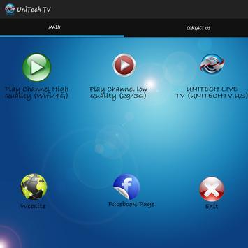 UniTech TV captura de pantalla de la apk