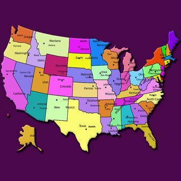 USA States poster