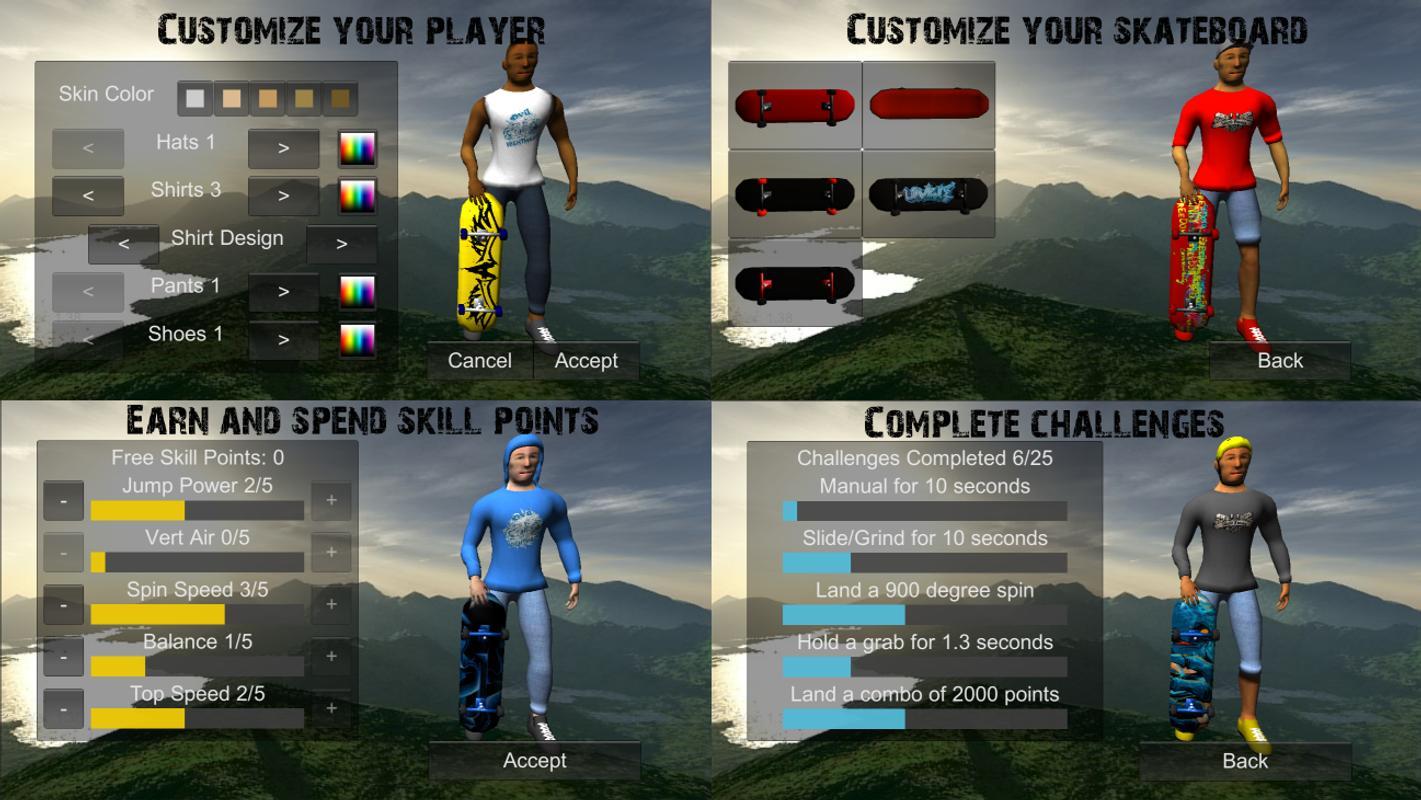 Skateboard Games D Unity