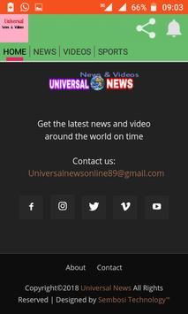 Universal News screenshot 3