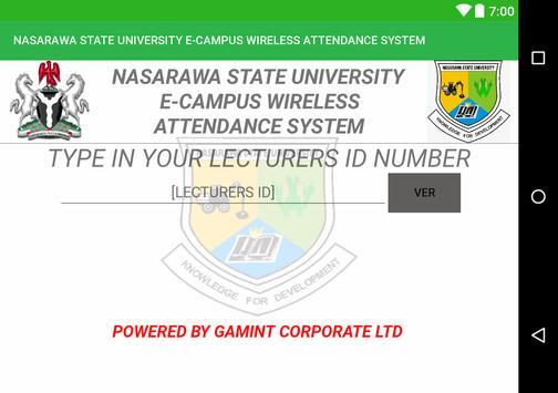NASARAWA STATE UNIVERSITY E-CAMPUS MANAGEMENT screenshot 2