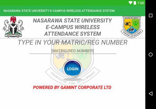 NASARAWA STATE UNIVERSITY E-CAMPUS MANAGEMENT screenshot 4