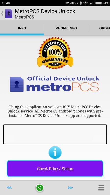 unlock my metropcs phone for free