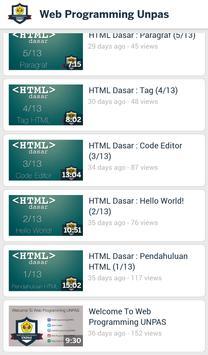 Web Programming UNPAS poster