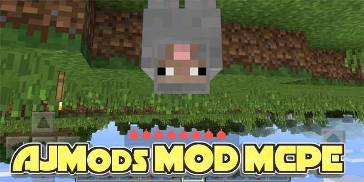 AJMods MCPE Mod poster