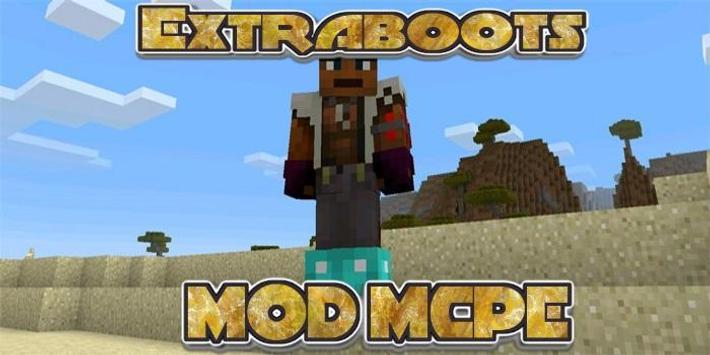 Extraboots MCPE MOD poster
