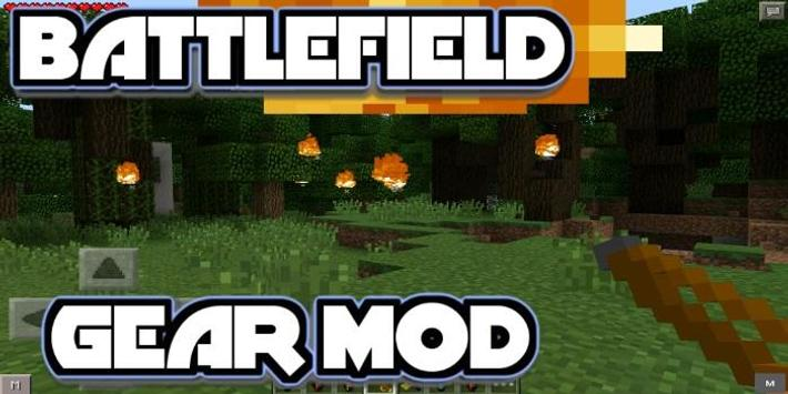 Mod for MCPE Battlefield Gear poster