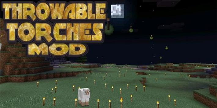 Throwable Torches Mod poster