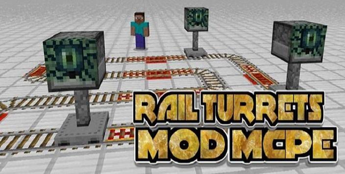 Rail Turrets Mod poster