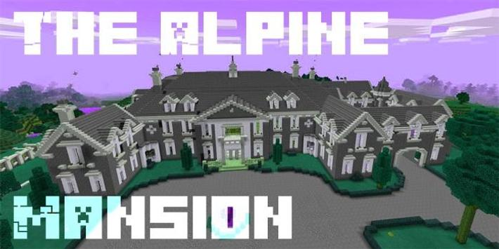 MAP MCPE The Alpine Mansion screenshot 1