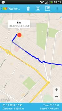 Walker - GPS tracker apk screenshot