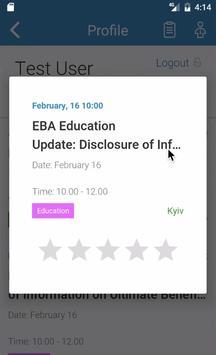 EBA Events screenshot 3
