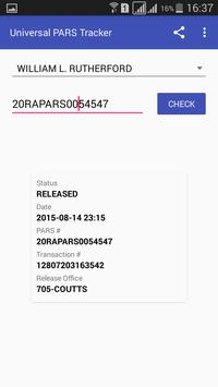 Universal PARS Tracker screenshot 2