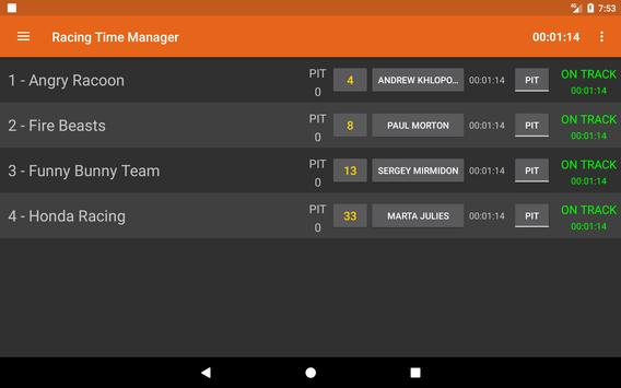 Racing Time Manager screenshot 10