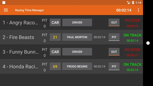 Racing Time Manager screenshot 1
