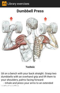 Exercises for gym Ekran Görüntüsü 1