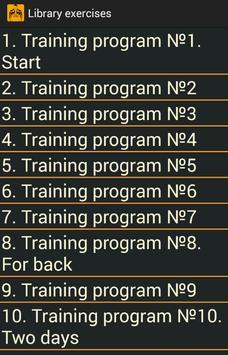 Exercises for gym Ekran Görüntüsü 2
