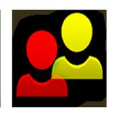 Contact Widget (4 groups) icon
