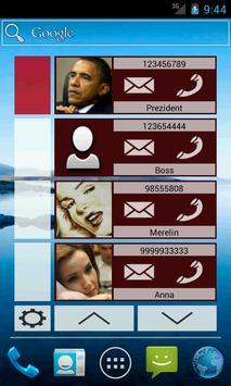 Contact Widget (4 groups) poster