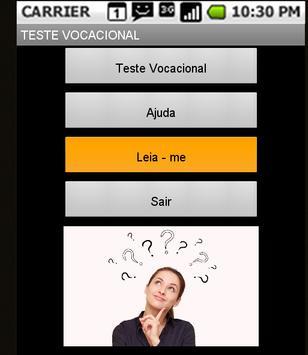Teste Vocacional apk screenshot