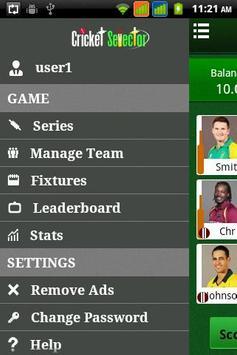 Cricket Selector apk screenshot