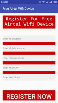 Free Airtel WiFi Device poster