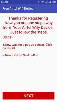 Free Airtel WiFi Device screenshot 1