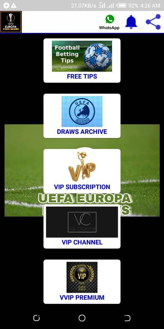 UEFA Europa Fixed Draws for Android - APK Download